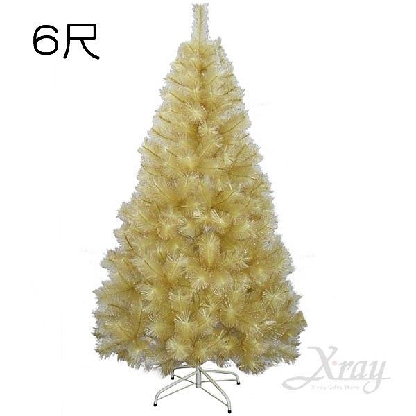 節慶王【X280715】6尺香檳金松針樹(附鐵腳座),聖誕樹/聖誕佈置/聖誕材料/聖誕佈置裝飾
