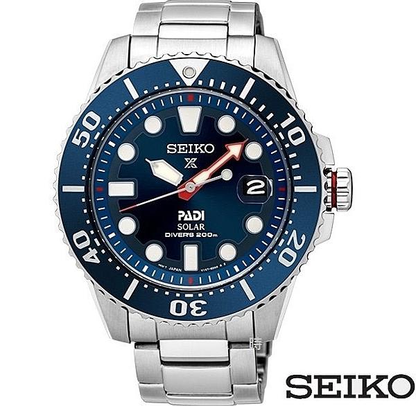 SEIKO 精工 太陽能 PADI聯名潛水錶 SNE435J1 (V157-0BT0B) 藍/43mm