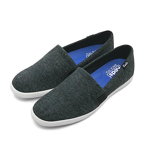 LIKA夢 Keds 時尚韓風經典款毛圈布休閒鞋 CHILLAX A-LINE系列 黑 132235 女