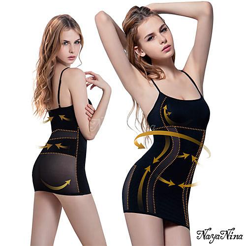 【特價】產後瘦後 減重 塑型 美體 修身 雙弧推塑․加強纖腰長版細肩塑身衣M-XXL(黑) NA14080015