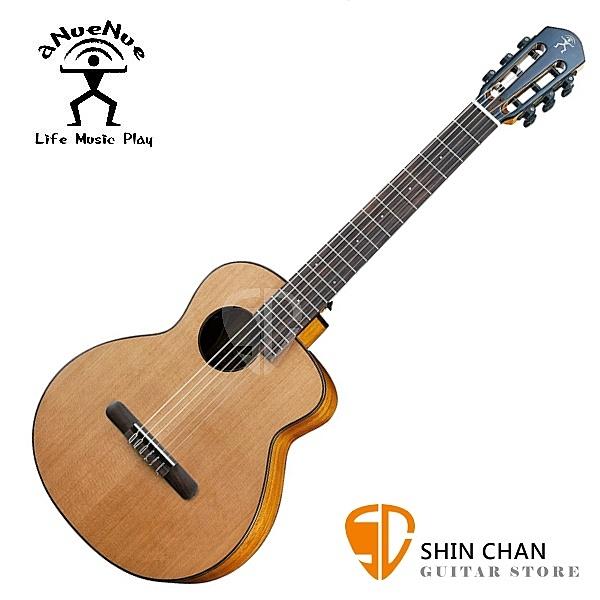 aNueNue MN14 羽毛鳥 36吋 古典尼龍吉他旅行小吉他 紅杉木面單/ 桃花心木側背板 附多樣配件