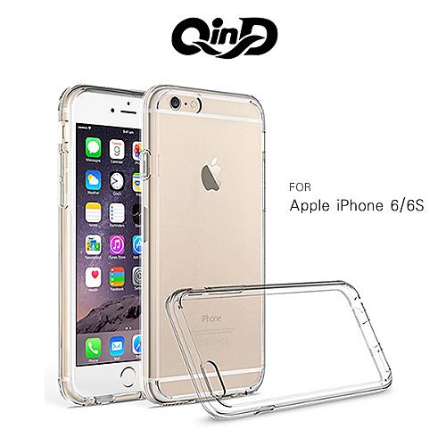 QinD Apple iPhone 6/6S 4.7吋 專用雙料保護套 軟邊硬殼 手機套 背蓋 I6S