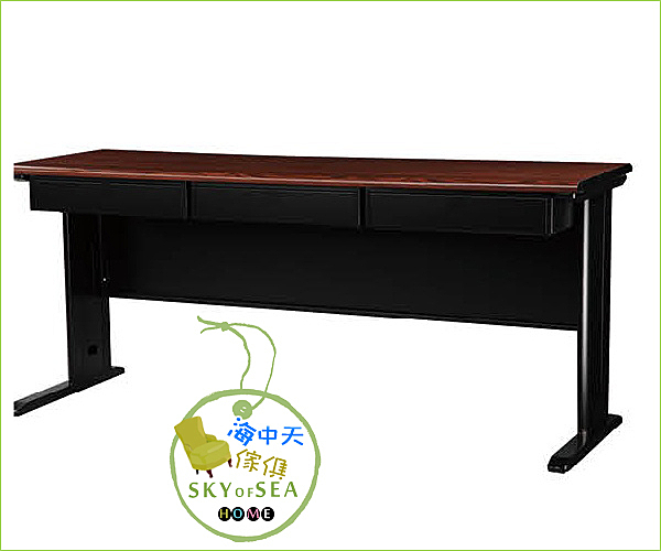 {{ 海中天時尚傢俱 }} C10  摩登時尚 會議桌系列 074-49  CD黑 業務桌