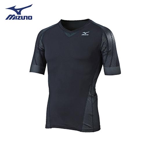 Mizuno BG7000T 男裝 上衣 緊身 短袖 高透氣 快乾 黑 【運動世界】K2MJ7A6190