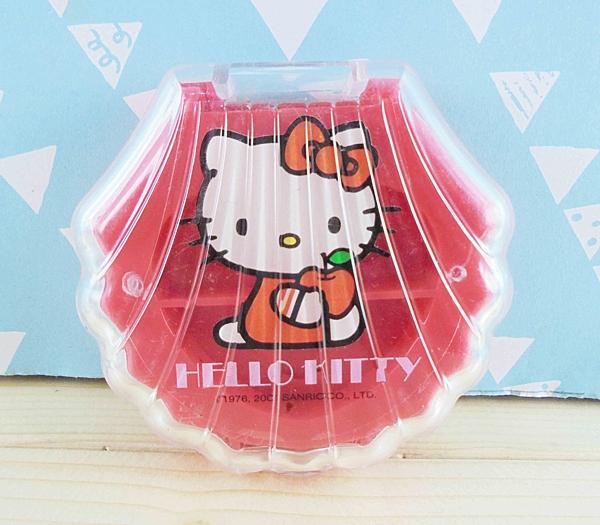 【震撼精品百貨】Hello Kitty 凱蒂貓~KITTY收納分隔盒-紅貝殼
