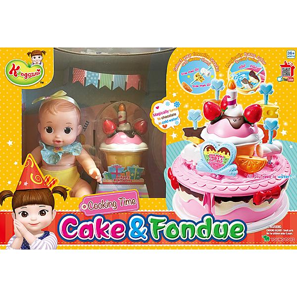 KONGSUNI 小荳娃娃 生日蛋糕妹妹娃娃組_ YT31040