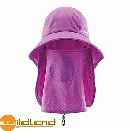 【Wildland 荒野 中性 抗UV多功能遮陽帽 紫羅蘭】W1007/抗UV/遮陽帽/防曬帽/露營/登山