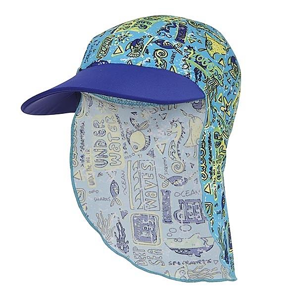 *日光部屋* ZOGGS (公司貨)/7615171 DEEP SEA 幼童海底世界護頸遮陽帽
