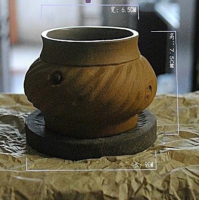 【協貿國際】仿真段泥精品創意微型枯木水培小花盆