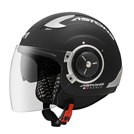 【東門城】ASTONE DJ11 素色(平黑白) 半罩式安全帽 內藏墨片