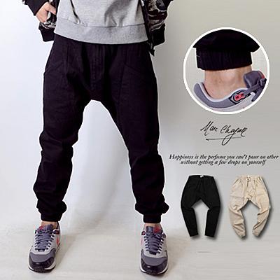 束口褲 美式風格低褲檔飛鼠褲縮口褲【N9428J】