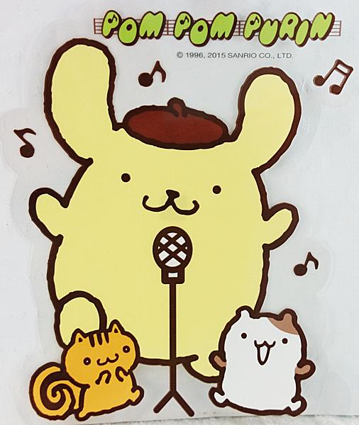 【震撼精品百貨】Pom Pom Purin 布丁狗~貼紙_音符