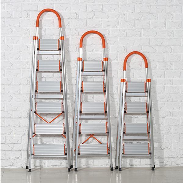 鋁合金家用梯摺疊梯子加厚人字梯踏板梯子四五步凳高樓梯扶梯WY