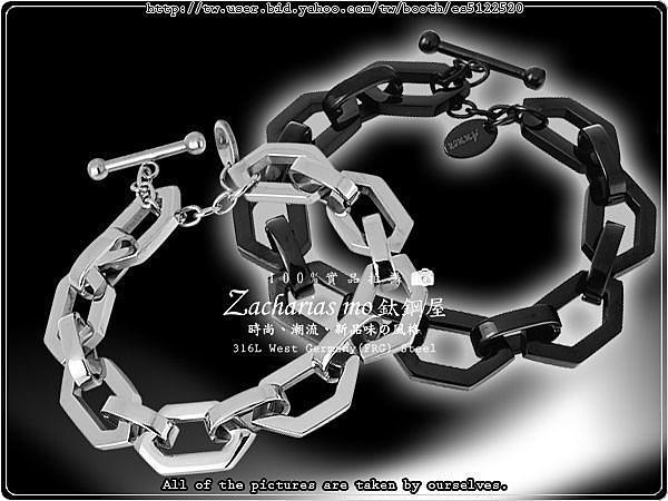 『Z-MO鈦鋼屋』316L抗過敏不生鏽,西德純鋼情人對鍊/手鍊/手環【六角DK】~【CHS010】(現貨)
