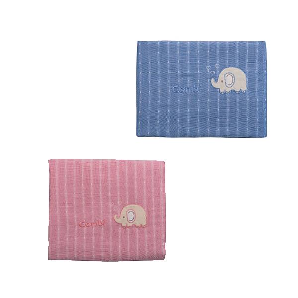 Combi 康貝 輕柔感~和風紗雙面蓋被(藍/粉)