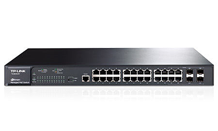 ◤全新品 含稅 免運費◢ TP-LINK JetStream TL-SG3424P 24 埠 Gigabit L2 網管型 PoE 交換器