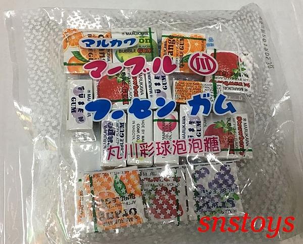 sns 古早味 進口食品 丸川 彩球泡泡糖 泡泡糖 ± 120公克± 5 產地 日本