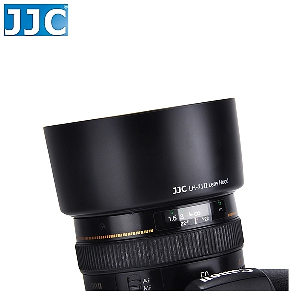 又敗家@JJC Canon副廠遮光罩ES-71II遮光罩適EF 50mm標準鏡頭F1.4 USM相容Canon原廠ES71II遮光罩太陽罩F/1.4