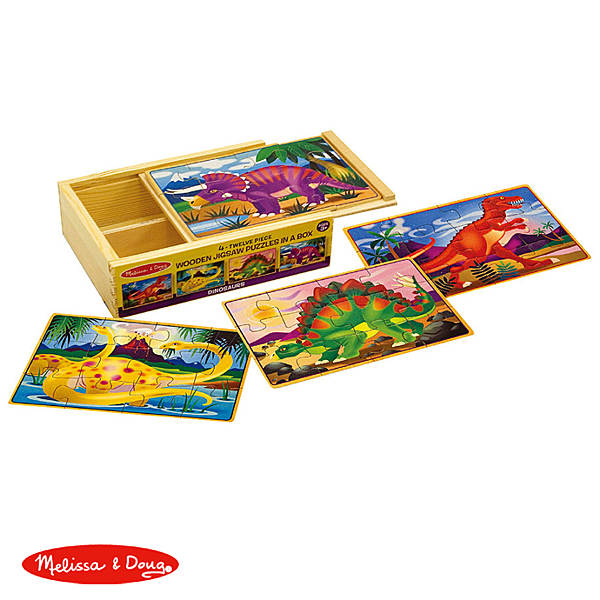 【華森葳兒童教玩具】拼圖教具系列-Melissa&Doug 盒裝拼圖-恐龍 N7-3791