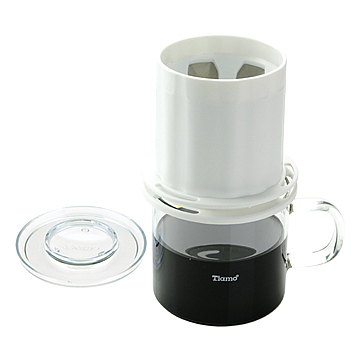金時代書香咖啡 Tiamo UFO-180圓錐濾器獨享杯-白色320cc 免用濾紙  HG2321