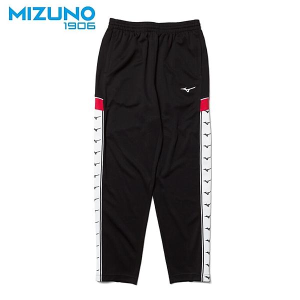 MIZUNO 男裝 長褲 1906 套裝 針織 側邊LOGO 黑 紅【運動世界】D2TD953109