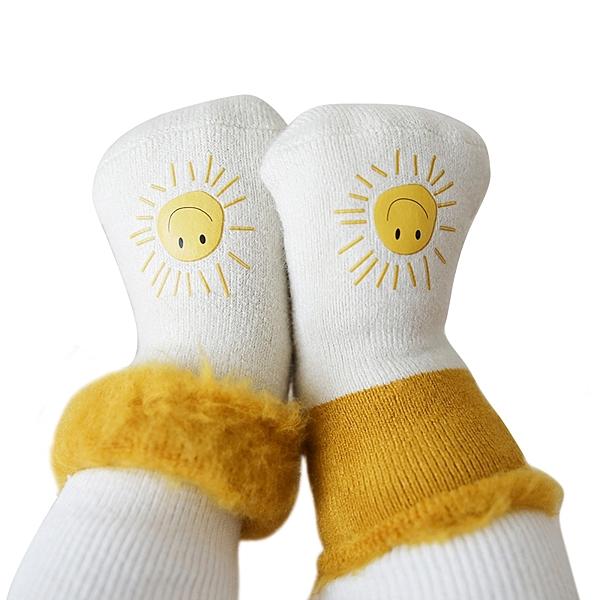 秋冬女童加絨加厚0-3歲寶寶襪子純棉男童長筒新生嬰兒襪兒童襪子