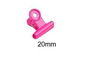力大牌 ABEL  05114   塑膠丸夾 20mm(顏色隨機出貨)-60支入 筒