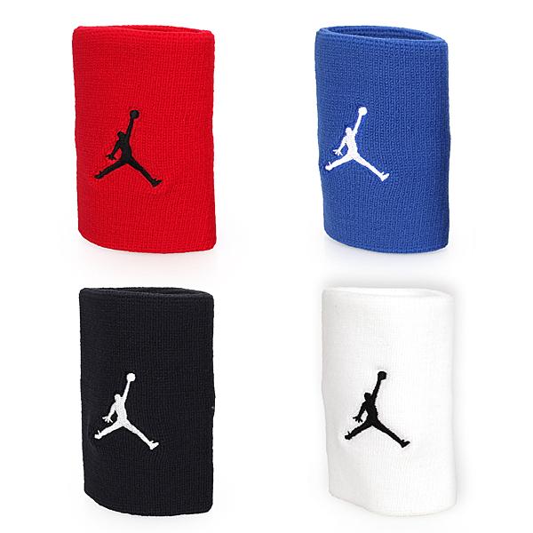 NIKE Jordan Jumpman單色腕帶 (飛人喬登 籃球 NBA 護腕 一雙入 JKN01
