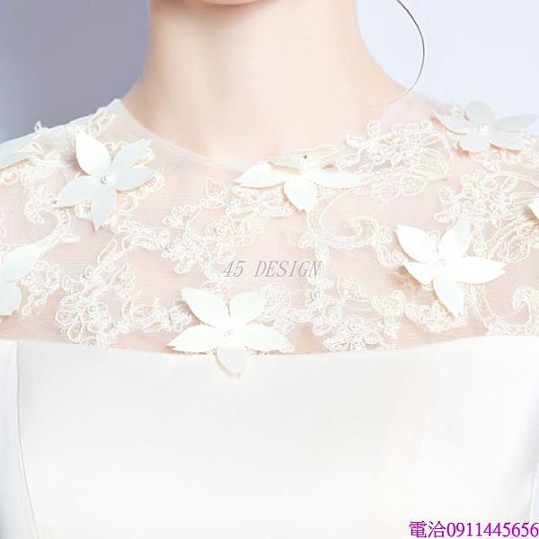 (45 Design)  客製化顏色尺寸新款禮服伴娘裙短款新娘伴娘晚宴年會演出婚紗小禮服7