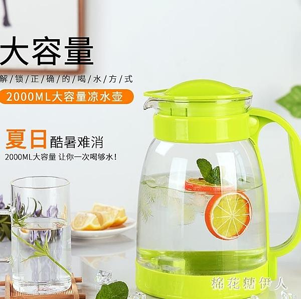 冷水壺大容量玻璃耐高溫花茶壺套裝家用果汁壺防爆涼白開水涼水壺PH3594【棉花糖伊人】