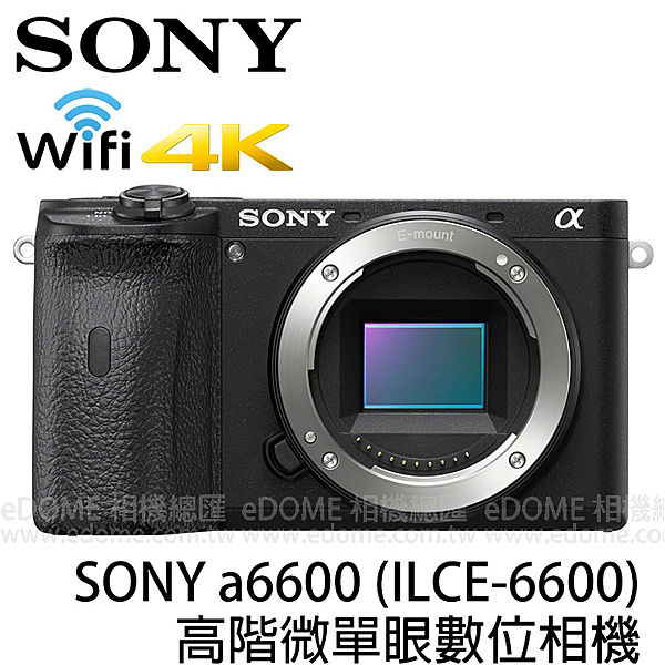 SONY a6600 BODY 贈充電器+收納包 (24期0利率 免運 台灣索尼公司貨) E接環 單機身 ILCE-6600 微單眼相機