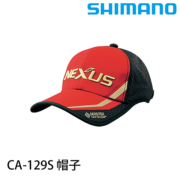 漁拓釣具 SHIMANO CA-129S 黑/紅 [帽子]
