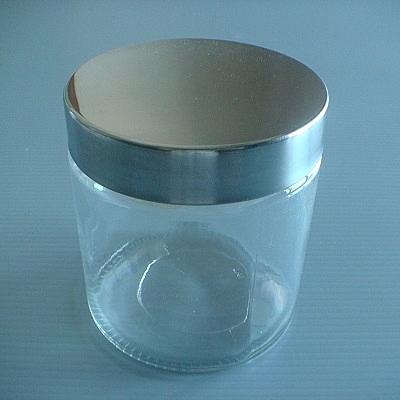 不銹鋼銀蓋儲物罐(圓柱型-1100ml)/玻璃瓶/密封罐/收納罐/糖果罐/保鮮罐