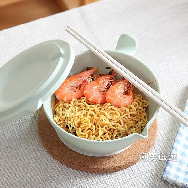 泡麵碗日式泡面碗帶蓋比陶瓷好湯碗飯碗家用大碗大號吃湯面泡面杯