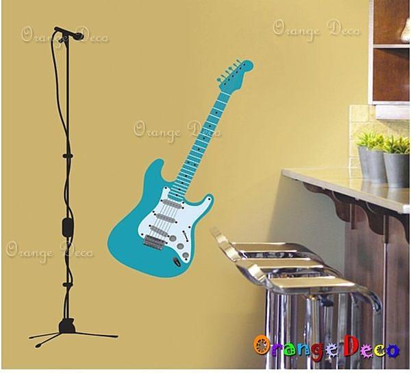 壁貼【橘果設計】電吉他 DIY組合壁貼 牆貼 壁紙 壁貼 室內設計 裝潢 壁貼