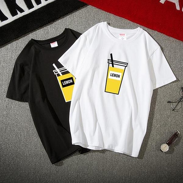 夏季ins短袖t恤男潮流嘻哈原宿港風學生半袖韓版寬鬆潮牌情侶上衣