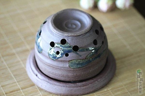 陶瓷香爐 古拙粗曠 香薰(藍釉) 香薰爐 熏香爐 香熏爐