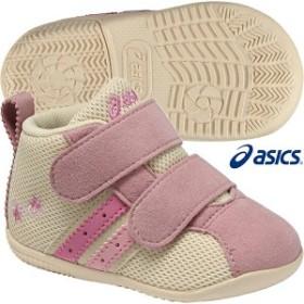 【asics】アシックス スクスク ベビー コンフィFIRST MS 2 【BABY】(ベージュ×ローズピンク) 【TUF113-0518】子供 靴 ベビーシューズ