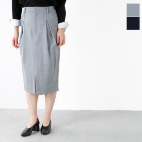 MICA&DEAL マイカアンドディール カシミヤウールタックタイトスカート