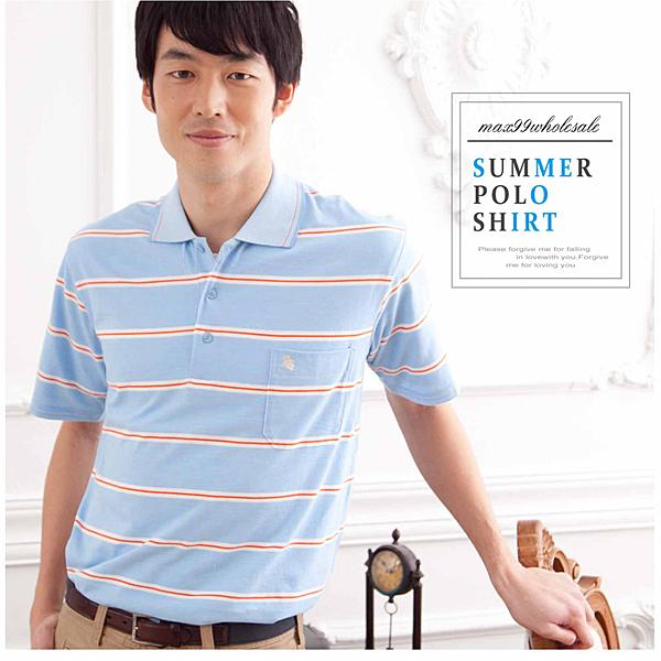 【大盤大】(P22671) 男 短袖口袋上衣 條紋保羅衫 薄款POLO衫 高爾夫 網眼 寬鬆運動【剩M和XL號】