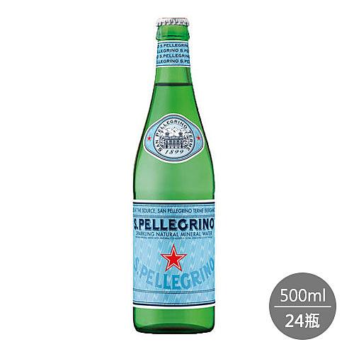 聖沛黎洛 天然氣泡礦泉水 玻璃瓶裝(500ml) x 24瓶 (箱購)