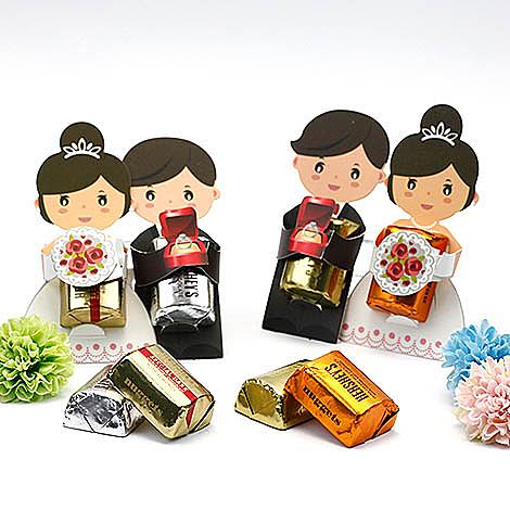 幸福婚禮小物❤DIY新郎新娘金磚巧克力---1組10入❤ 巧克力/創意喜糖/送客喜糖