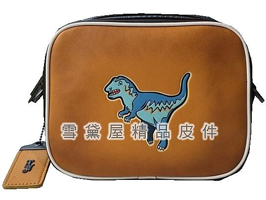 ~雪黛屋~COACH 斜背包小容量隨身物品國際正版保證進口防水防刮皮革品證購證塵套提袋C113921