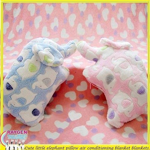 大象 包巾 收納 枕頭 毛毯 空調毯