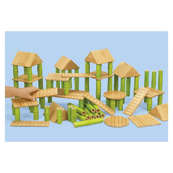 【華森葳兒童教玩具】建構積木系列-竹屋積木組 N8-HH668
