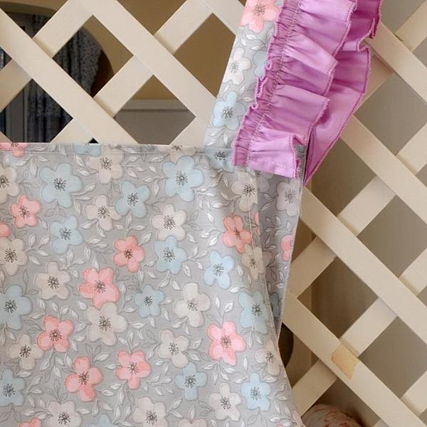 [超豐國際]棉布田園圍裙可愛廚房情侶女工作服防油塵土圍腰反穿