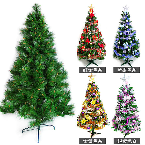 台灣製7呎/ 7尺(210cm)特級綠松針葉聖誕樹 (+飾品組)(不含燈) (本島免運費)
