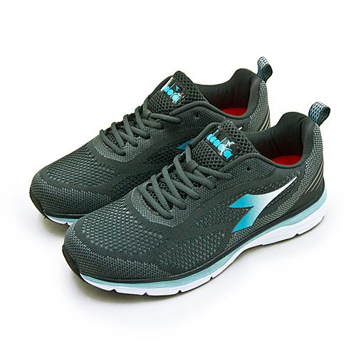 LIKA夢 DIADORA 迪亞多那 輕量飛織慢跑鞋 樂活輕跑系列 灰藍 7018 女