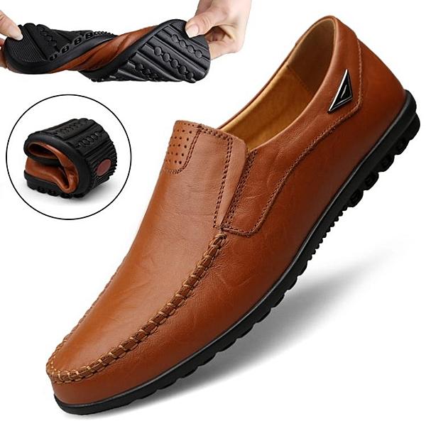 豆豆鞋 豆豆鞋男真皮休閒皮鞋韓版男鞋夏季透氣軟底一腳蹬懶人鞋子秋 莎瓦迪卡
