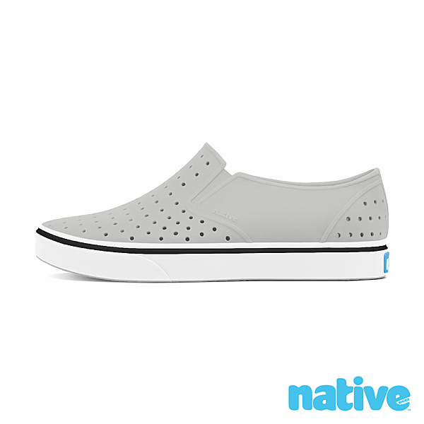 native 小童鞋 MILES 小邁斯晴雨鞋-鴿子灰x貝殼白